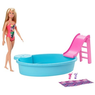 Barbie Pool & Doll Playset