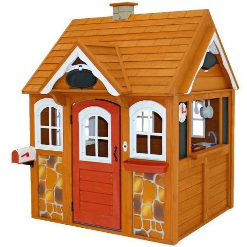 Kidkraft Stoneycreek Cedar Outdoor Playhouse Target
