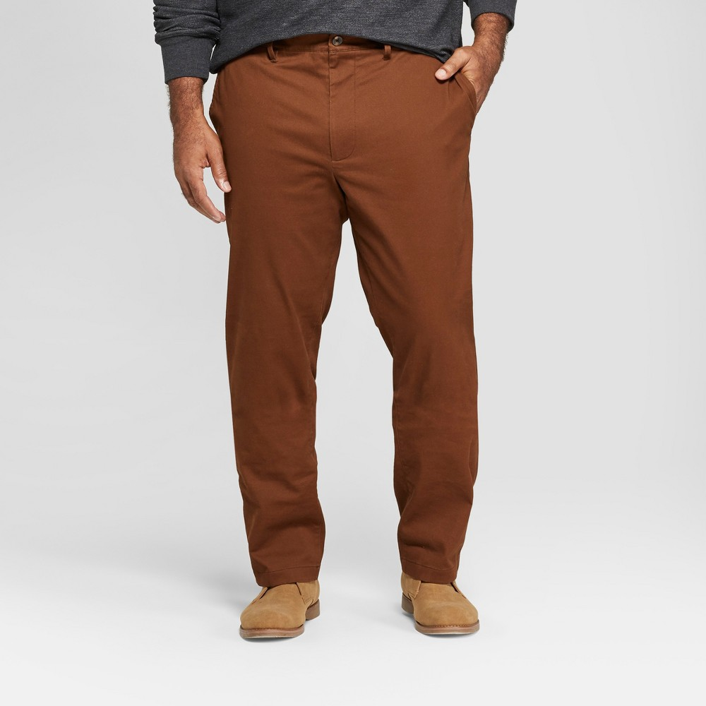 Men's Big & Tall Slim Fit Hennepin Chino - Goodfellow & Co Brown 54x32