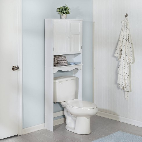 Bathroom Spacesaver Cabinet White - Honey Can Do - image 1 of 4