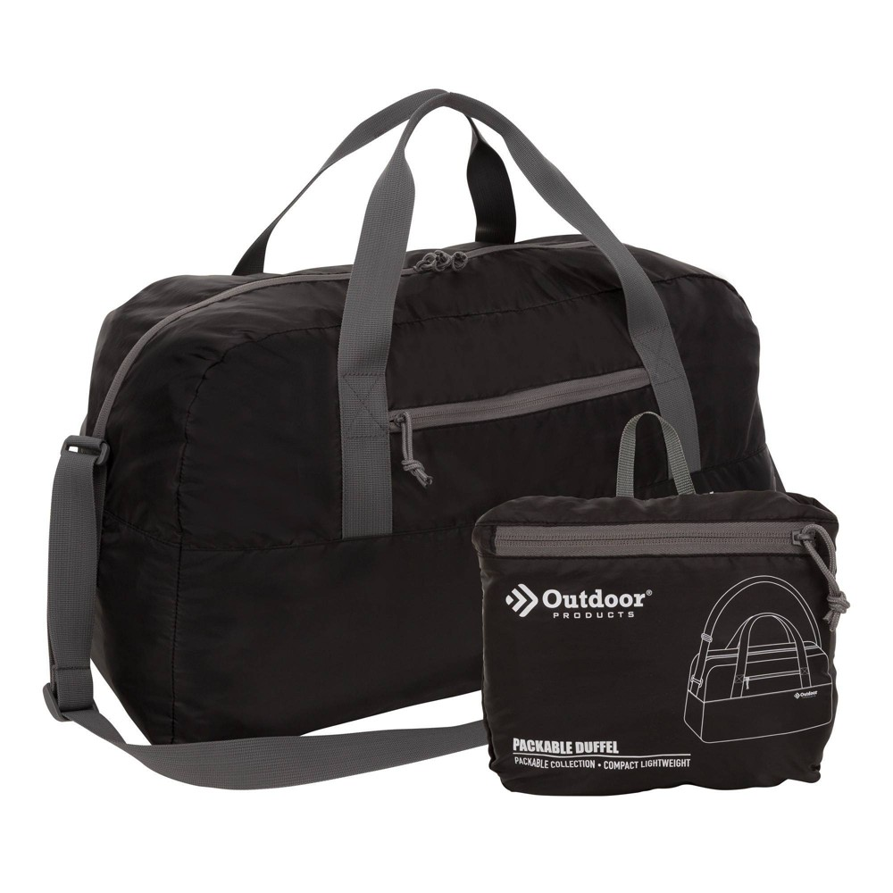 Image of Outdoor Products 58L Packable Duffel Bag - Black, Size: Small