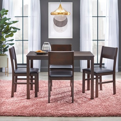 5pc Lucca Dining Set Brown - Buylateral