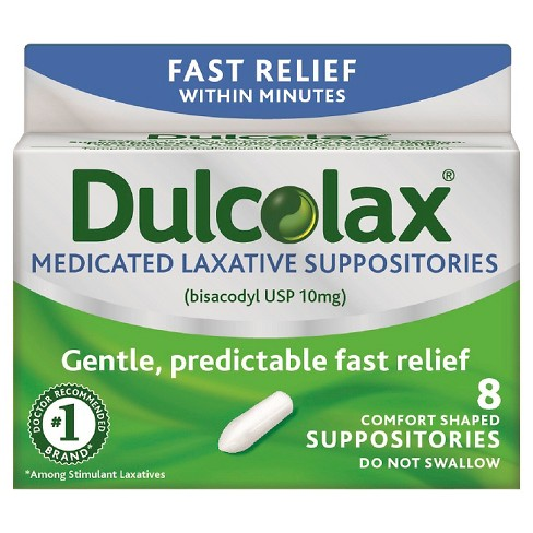 Dulcolax® Gentle and Predictable Fast Relief Laxative Suppositories - 8ct - image 1 of 2