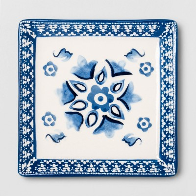 Stoneware Spoon Rest Blue/White - Opalhouse™