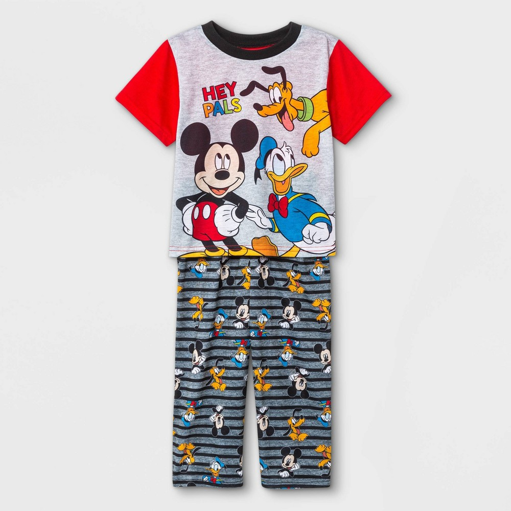 Toddler Boys 39 2pc Mickey Mouse 38 Friends Pajama Set Red 4t