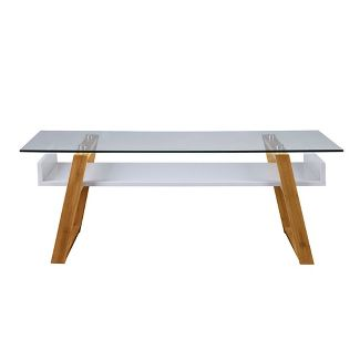 Oslo Sundance Coffee Table White/Bamboo Brown - Johar Furniture