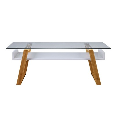 Ordinaire Oslo Sundance Coffee Table White/Bamboo Brown   Johar Furniture : Target