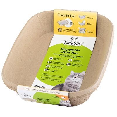 Kitty Sift Disposable Cat Litter Box - L - 3pk