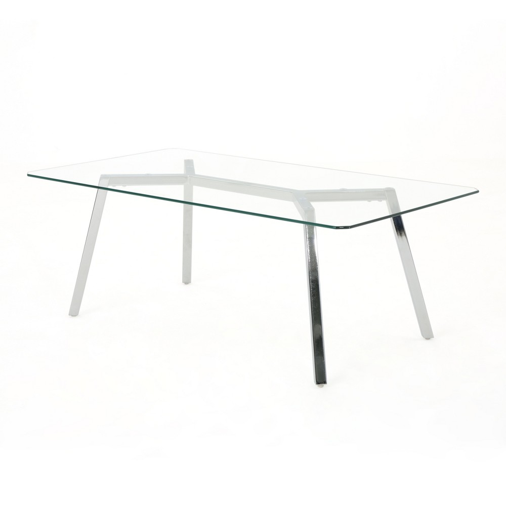 59 Zavier Rectangular Dining Table Clear - Christopher Knight Home