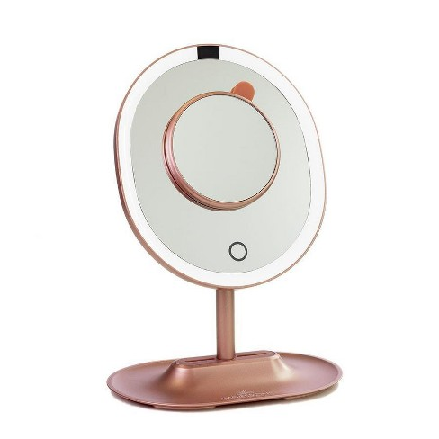 Touch Wave Motion-Activated LED Makeup Mirror With Detachable 10x Mirror - image 1 of 2