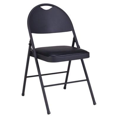2 Piece Folding Comfort Chairs Black - Cosco