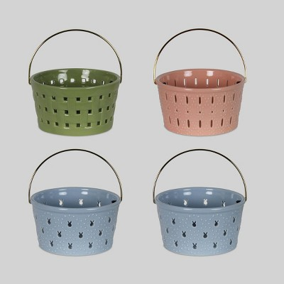4ct Ceramic Baskets - Bullseye's Playground™