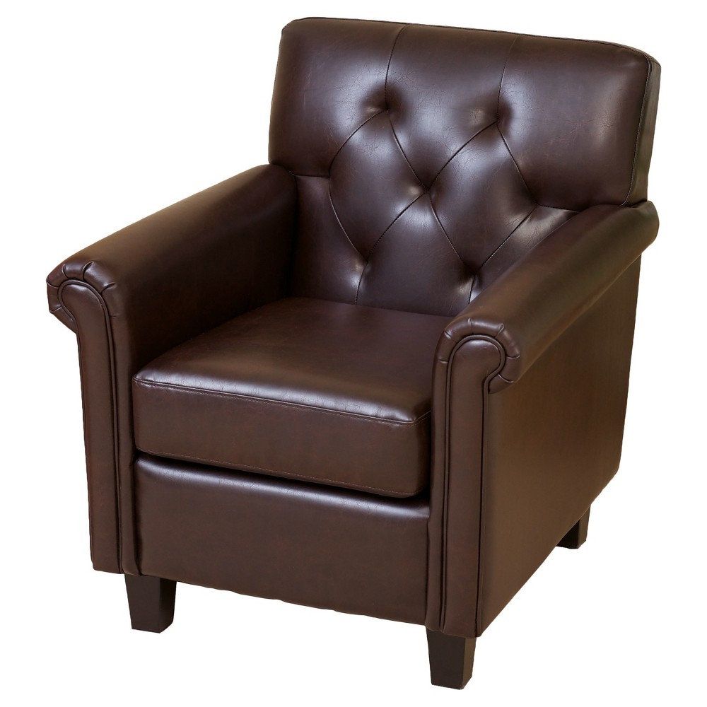 Veronica Tufted Club Chair Brown - Christopher Knight Home