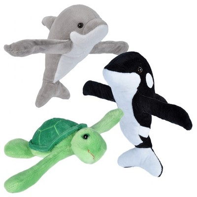 Wild Republic Huggers Plush Sea Dolphin, Turtle, and Orca