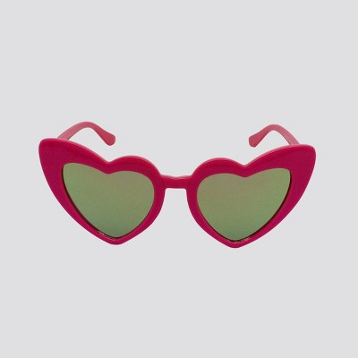 Toddler Girls' Heart Frame Sunglasses - Cat & Jack™ Pink