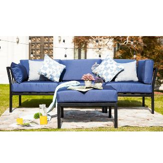 2pc Patio Sofa Set with Ottoman - Patio Festival