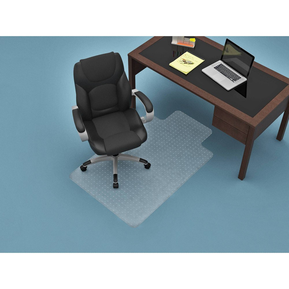 Image of 45 x 53 Flat Pile Chair Mat Clear - Monroe + James