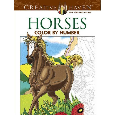 Horses Color by Number Coloring Book - (Creative Haven Coloring Books) by  George Toufexis (Paperback)