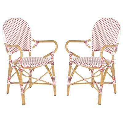 Biarritz 2pc Wicker Patio Arm Chair - Safavieh