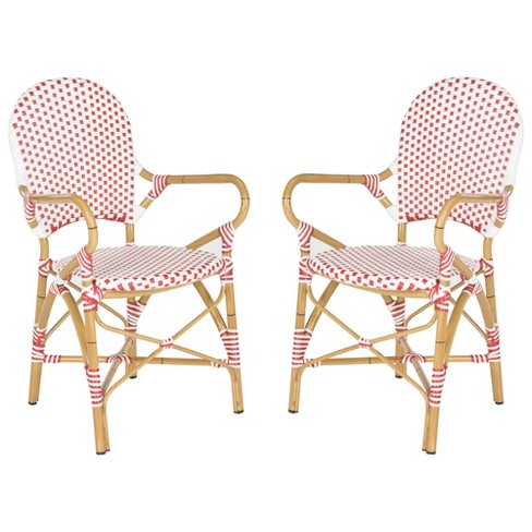 Biarritz 2pc Wicker Patio Arm Chair - Safavieh - image 1 of 4
