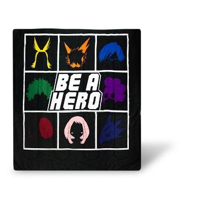 Just Funky My Hero Academia Be A Hero 90x86 Inch Full/Queen Comforter