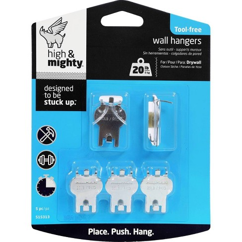 20lb Decorative Hooks Silver - High & Mighty - image 1 of 4