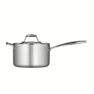 Tramontina Gourmet Tri-Ply Clad 4qt Sauce Pan with Lid Silver