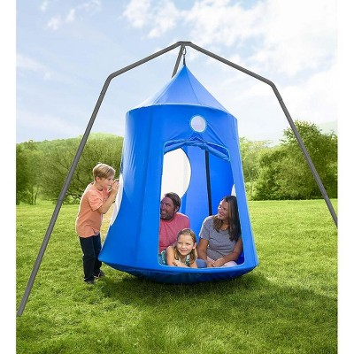 HearthSong - Nylon Family HugglePod HangOut and Family HangOut Stand Special, Blue
