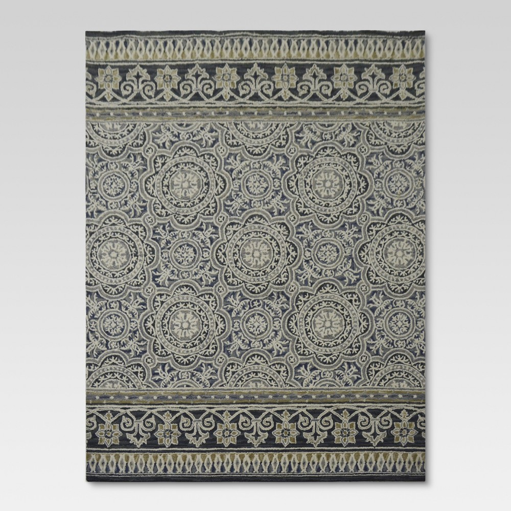 5'X7' Floral Belfast Tufted Area Rug Indigo - Threshold was $179.99 now $143.99 (20.0% off)