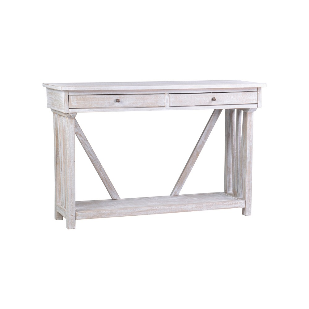 Luka Mango Wood Console Table White - East At Main
