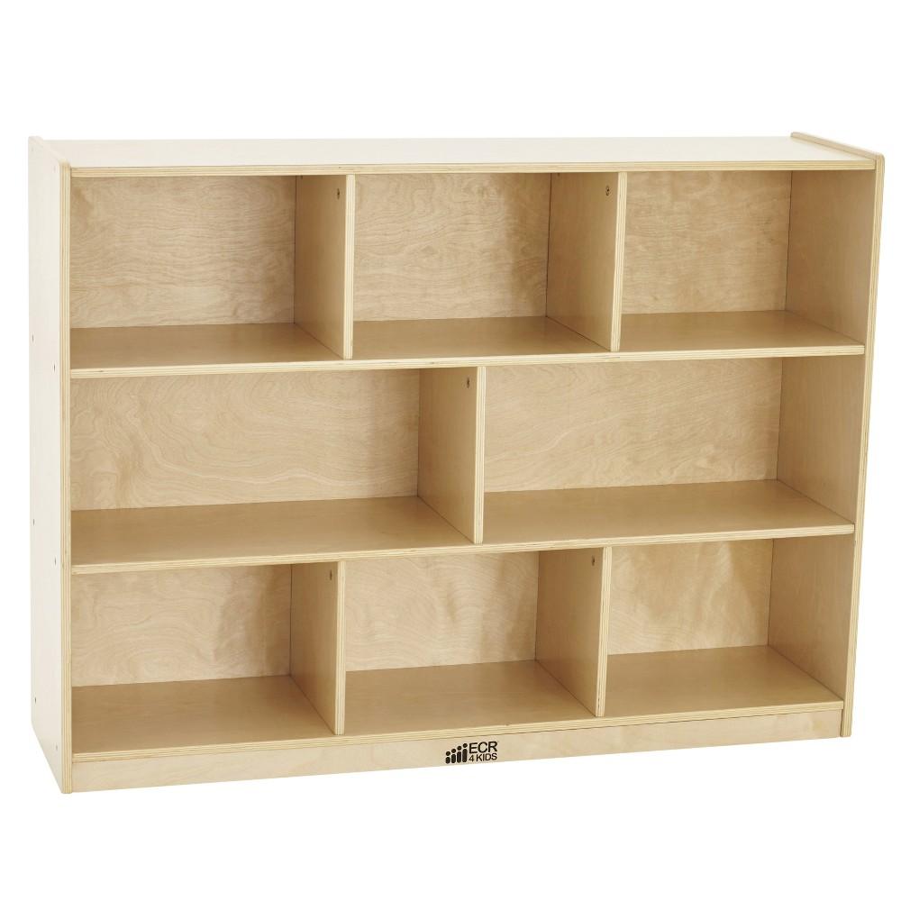 Kids' 8 Compartment Storage Cabinet 36 - ECR4Kids, Wood