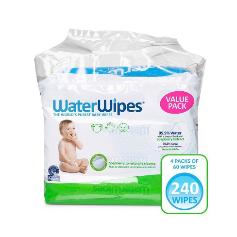 WaterWipes Soapberry Baby Wipes - 4pk/240ct Total - image 1 of 4