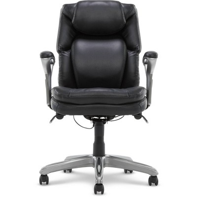 AIR Health & Wellness Managers Chair Black Leather - Serta