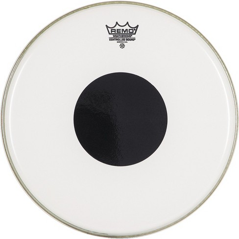 Remo Smooth White Control Sound Top Black Dot 14 in. - image 1 of 3