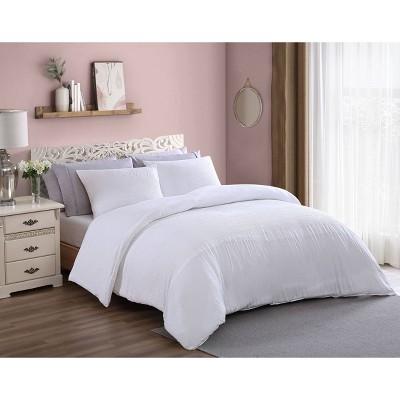 Lyla Enzyme Washed Eyelet Band Comforter Set - Geneva Home Fashion
