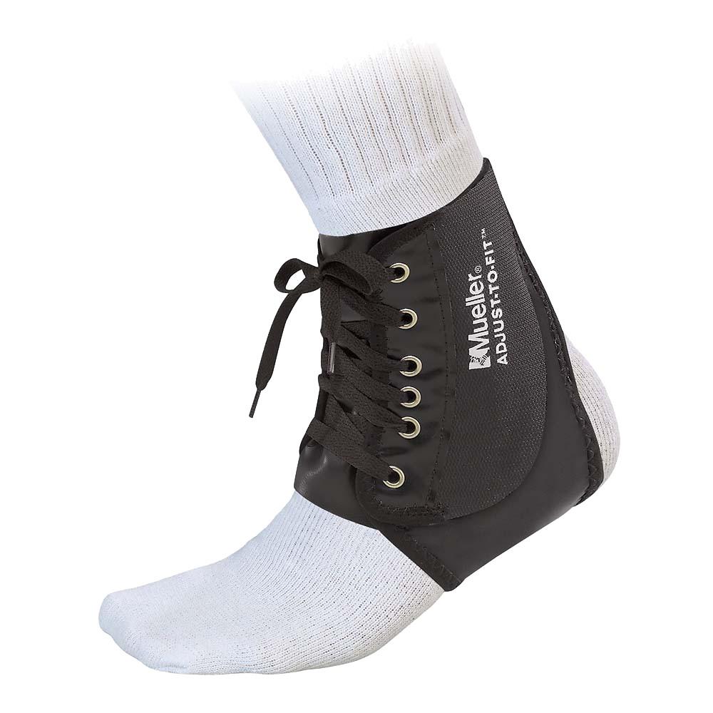 Mueller Adjust to Fit Ankle Brace Black-One Size, Black