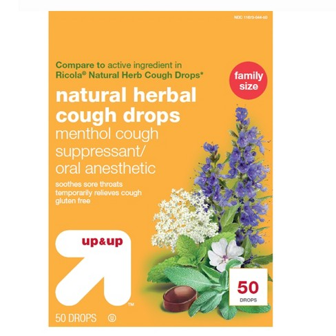 Natural Herbal Cough Drops - 50ct - Up&Up™ - image 1 of 3