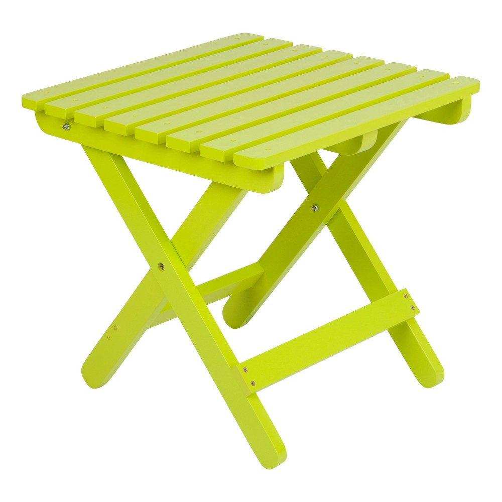 Image of Adirondack Folding Table - Lime Green