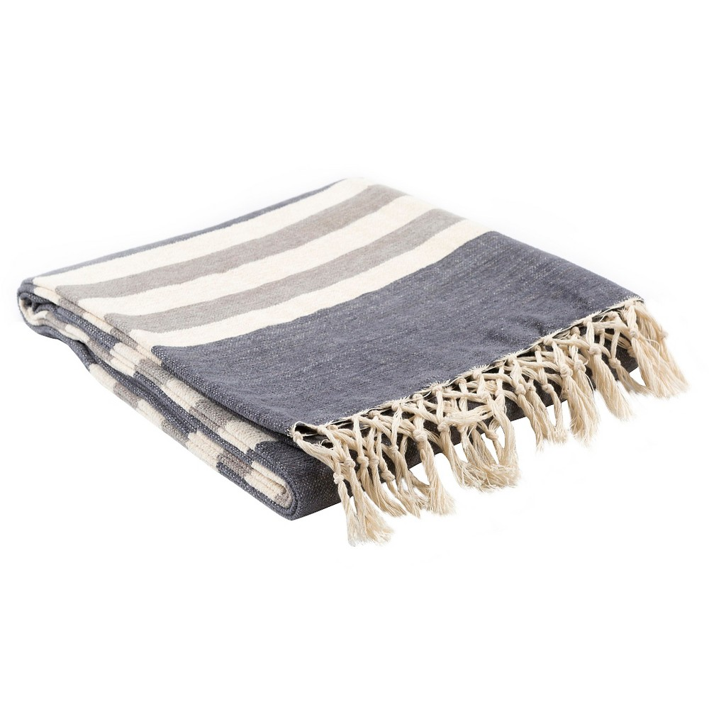 Charcoal Troy Solid Throw 50