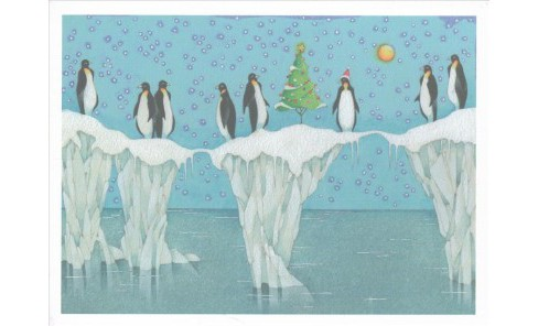 Penguin Party Deluxe Boxed Holiday Cards (Stationery) - image 1 of 1