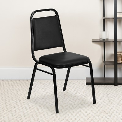"""Flash Furniture HERCULES Series Trapezoidal Back Stacking Banquet Chair with 1.5"""" Thick Seat"""