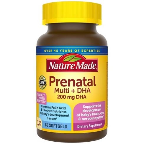 Nature Made Prenatal Multivitamin + 200 mg DHA Softgels - image 1 of 4