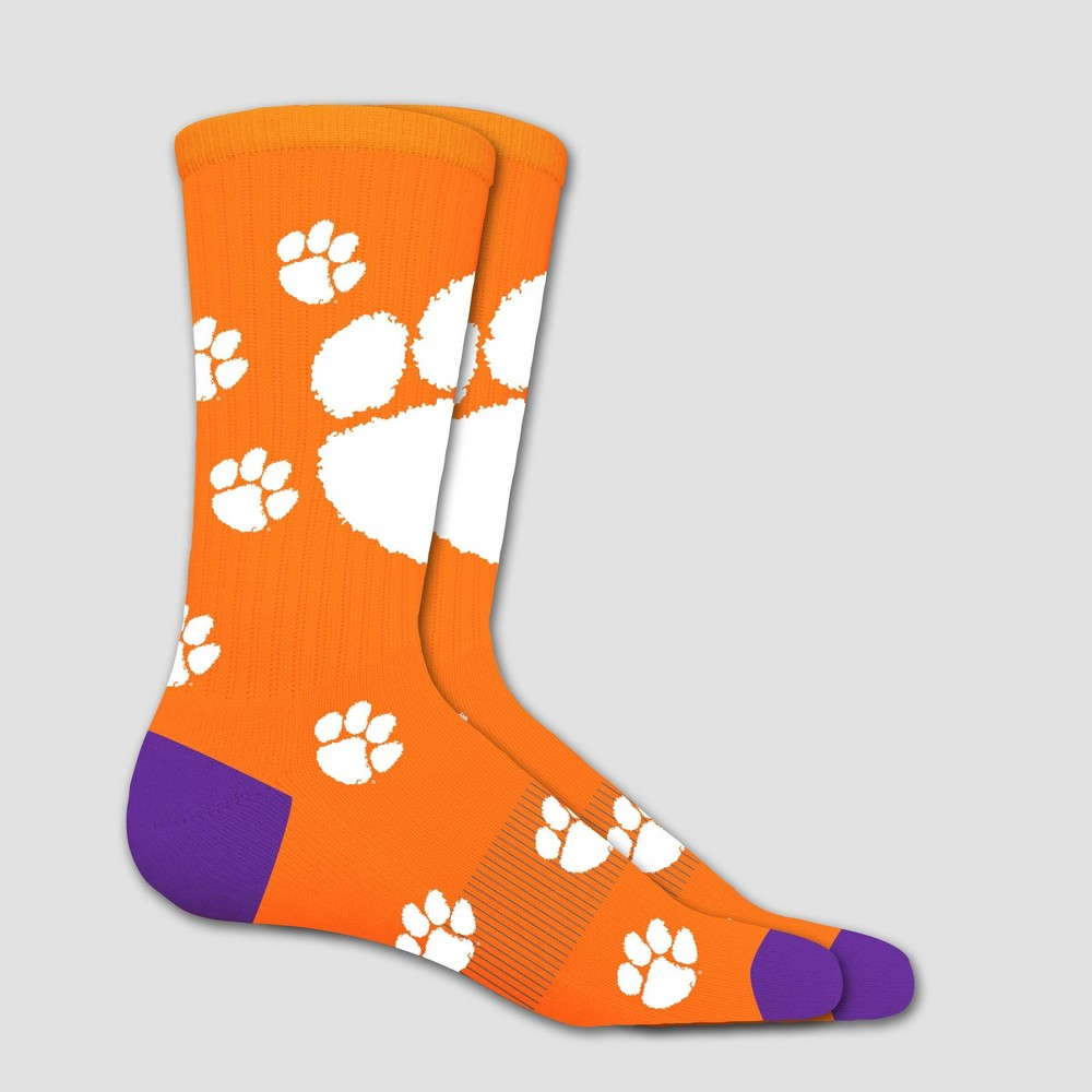 NCAA Clemson Tigers Sock Madness Crew 10-13, Adult Unisex