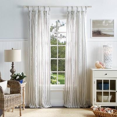 Set of 2 Laguna Stripe Sheer Curtain Panels - Martha Stewart