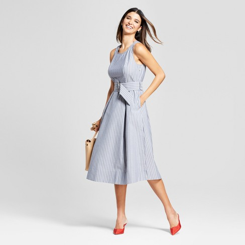 Women's Sleeveless Belted Midi Dress - Mossimo™ - image 1 of 2