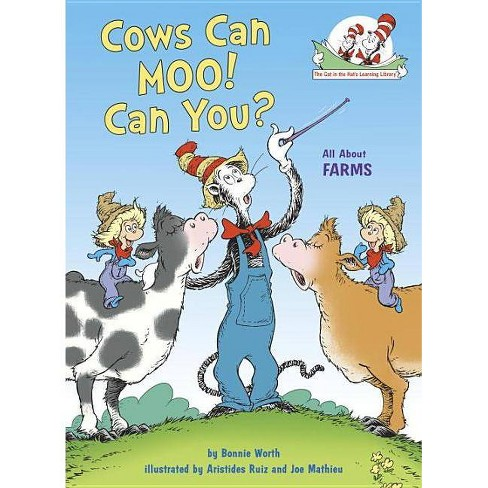 Cows Can Moo! Can You? : All About Farms -  by Bonnie Worth (Hardcover) - image 1 of 1