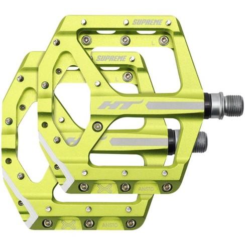 """HT ANS10 Supreme Platform Pedal: 9/16"""" Apple Green - image 1 of 1"""