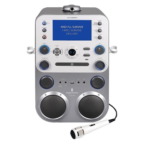 Singing Machine Bluetooth Digital Audio Streaming Karaoke System with Recording and Microphone - image 1 of 7
