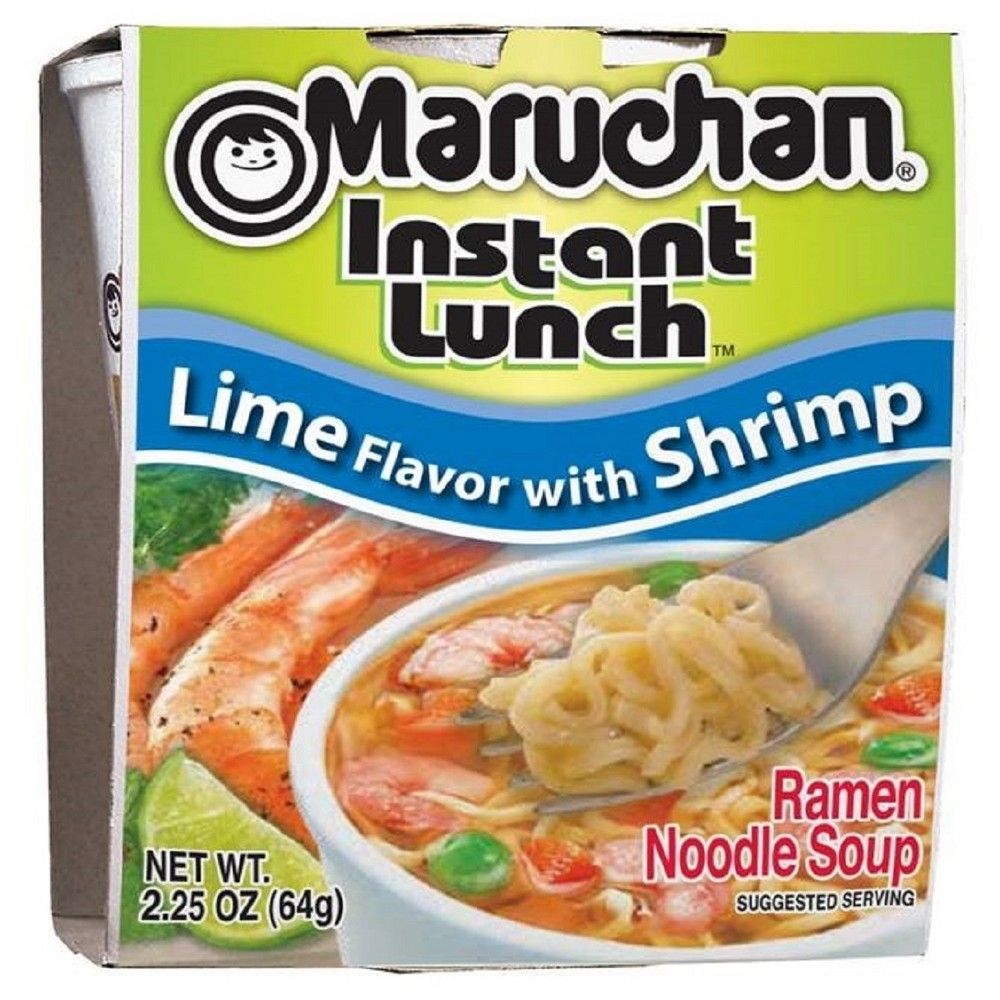 Maruchan Instant Lunch Lime Flavor With Shrimp Soup 2 25oz