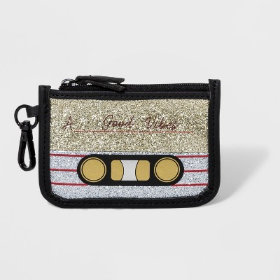 Pieced Glitter Cardcase With Pvc Trim And Tassel – Wild Fable™ Black